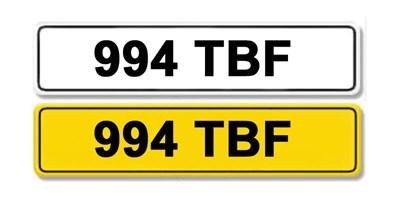 Lot 9 - Registration Number 994 TBF