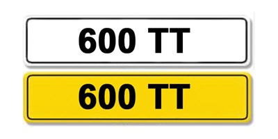 Lot 10 - Registration Number 600 TT