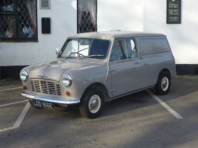 Lot 37-1967 Austin Mini 850 Van