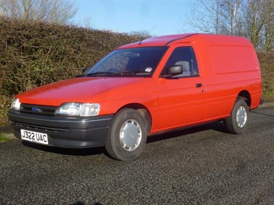 Lot 58 - 1992 Ford Escort 1.8D Van