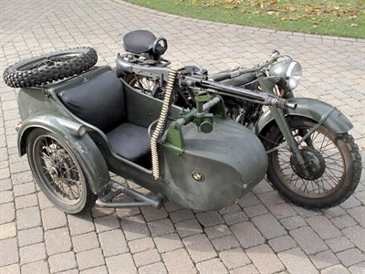 Lot 13 - 1935 BMW R12 Military Combination