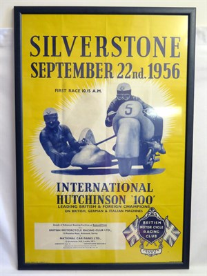 Lot 1 - 1956 Silverstone International Hutchinson 100 Poster