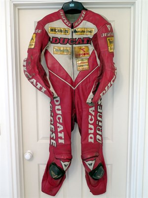 Lot 28 - Carl Fogarty Ducati Leathers by Dainese