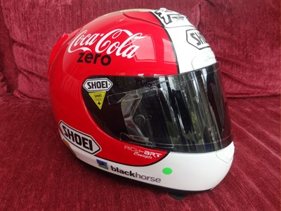 Lot 10-Michael Rutter 2010 Signed Race Helmet
