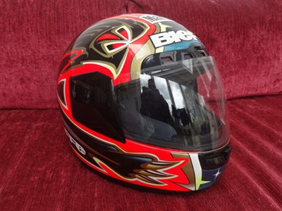 Lot 11-Max Biaggi 1997 Signed Replica Helmet
