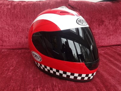 Lot 13-Phil Read Signed Replica Helmet