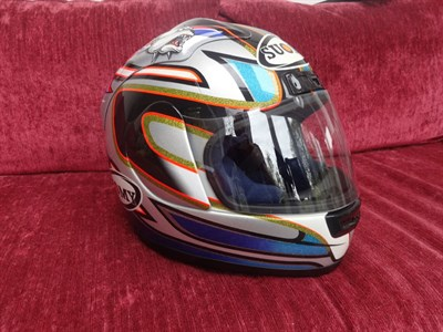 Lot 14-Neil Hodgson Signed Replica Helmet