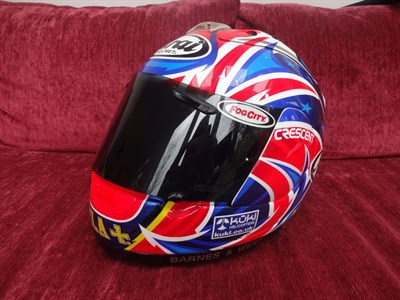 Lot 16-John Reynolds 2005 Signed Race Helmet