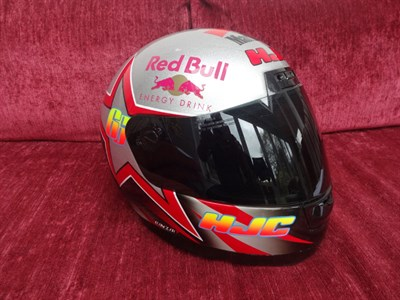 Lot 17-Alex Hoffman Signed Race Helmet