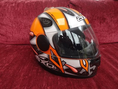 Lot 21-Neil Hodgson Signed Replica Helmet