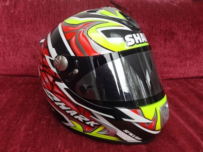 Lot 22-Chris Walker Signed Race Helmet