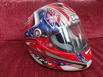 Lot 23-Carl Fogarty 1999 Signed Replica Helmet
