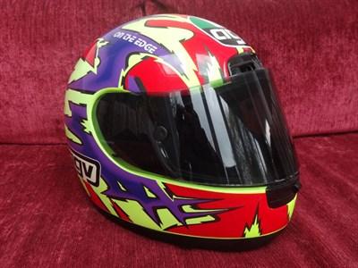 Lot 24-Niall Mackenzie Signed Race Helmet