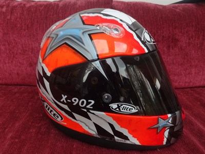Lot 25-Carlos Checa 2002 Signed Replica Helmet