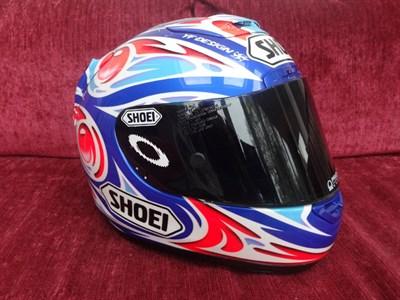 Lot 26-Makoto Tamada 2004 Signed Race Helmet