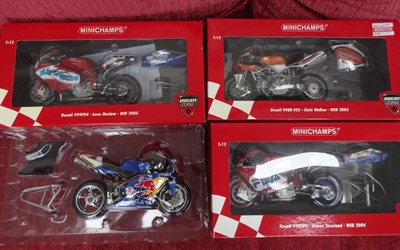 Lot 8-Minichamp Ducati Racing Motorcycle Models