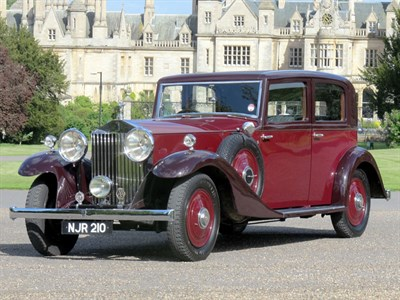 Lot 5-1933 Rolls-Royce 20/25 Sports Saloon