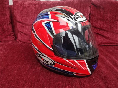 Lot 12-James Toseland 2004 Signed Replica Helmet