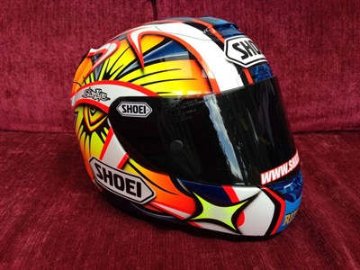 Lot 27-Shane Byrne Signed Race Helmet