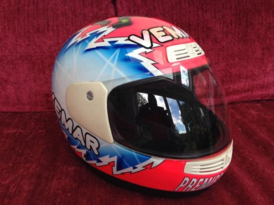 Lot 28-Steve Hislop Signed Race Helmet