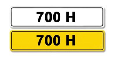 Lot 2-Registration Number 700 H