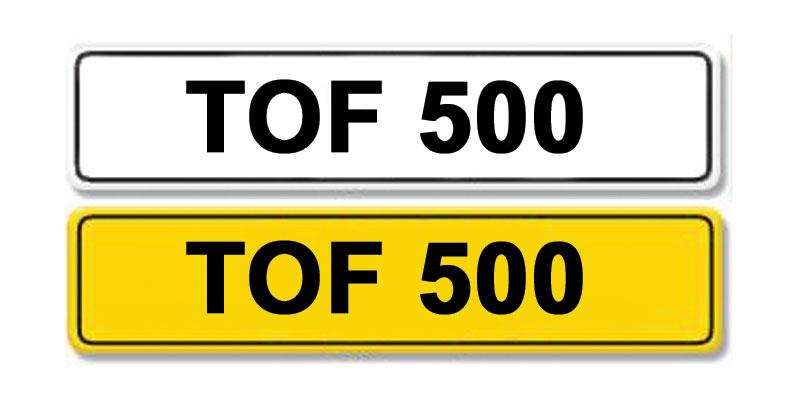 Lot 1-Registration Number TOF 500