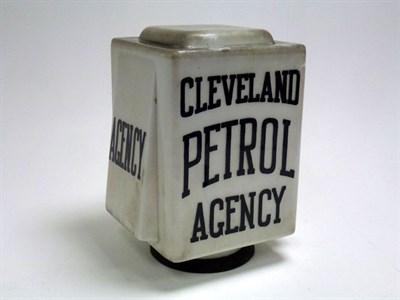 Lot 16 - 'Cleveland Petrol Agency' Glass Petrol Pump Globe**