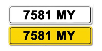 Lot 4 - Registration Number 7581 MY