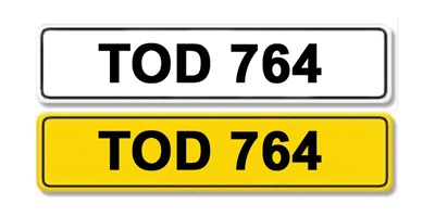 Lot 8 - Registration Number TOD 764