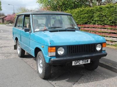 Lot 57 - 1981 Range Rover 'Two Door'