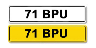 Lot 7 - Registration Number 71 BPU