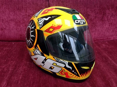 Lot 29-Valentino Rossi Signed Replica Helmet