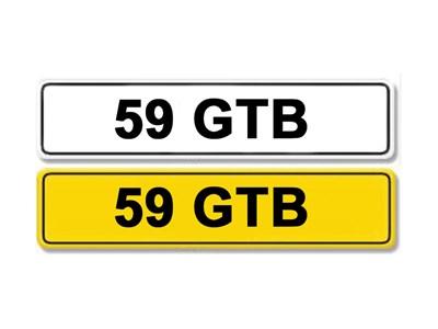 Lot 1-Registration Number 59 GTB