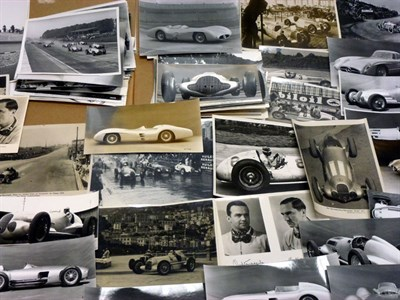 Lot 8-A Small Archive of Mercedes-Benz Racing Photographs