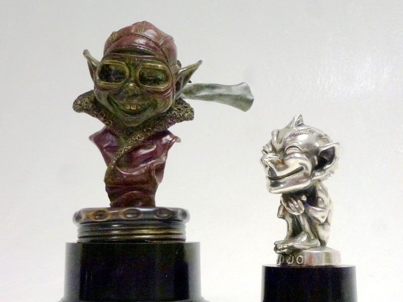 Lot 30-Two 'Speed Gnome' Accessory Mascots