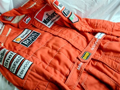 Lot 43-Mika Hakkinen's McLaren F1 Race Suit