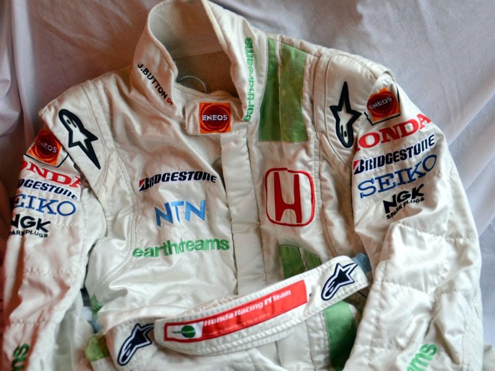 Lot 41-Jenson Button's Honda Earthdreams F1 Race Suit