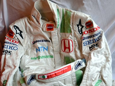 Lot 41-Jenson Button's Honda Earthdreams F1 Race Suit
