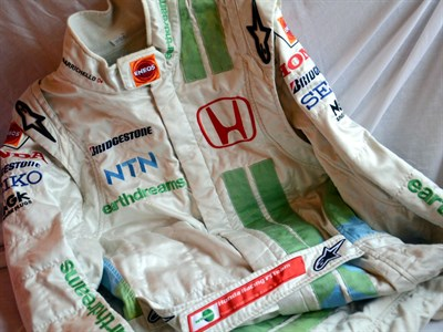 Lot 42-Rubens Barrichello, Honda Earthdreams F1 Race Suit