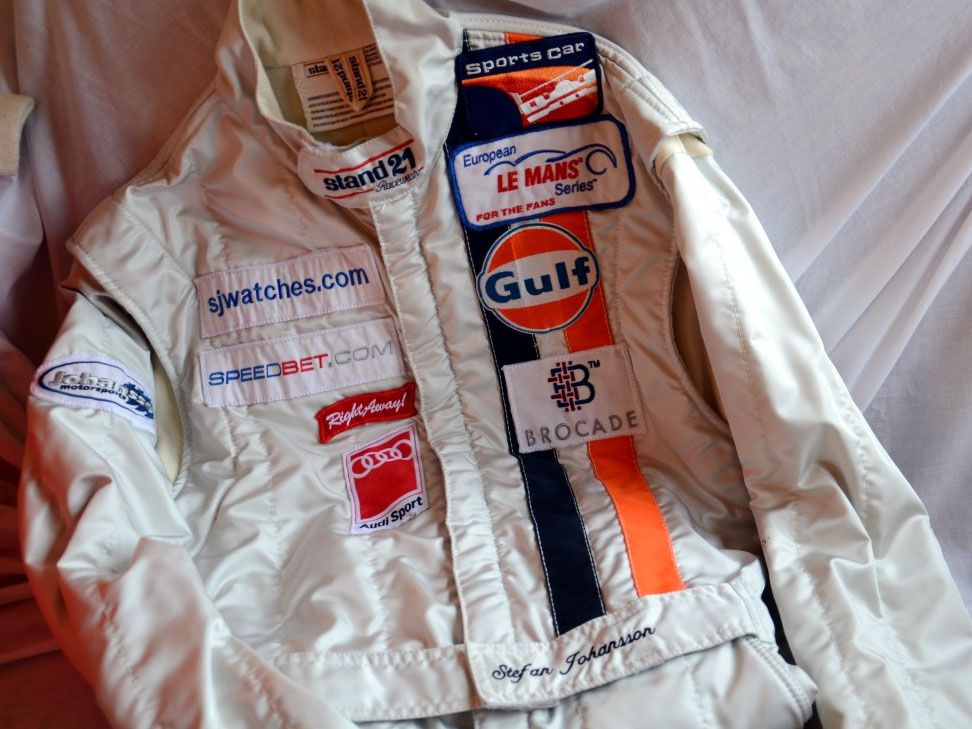 Lot 47-Stefan Johansson's Aston Martin GULF Race Suit