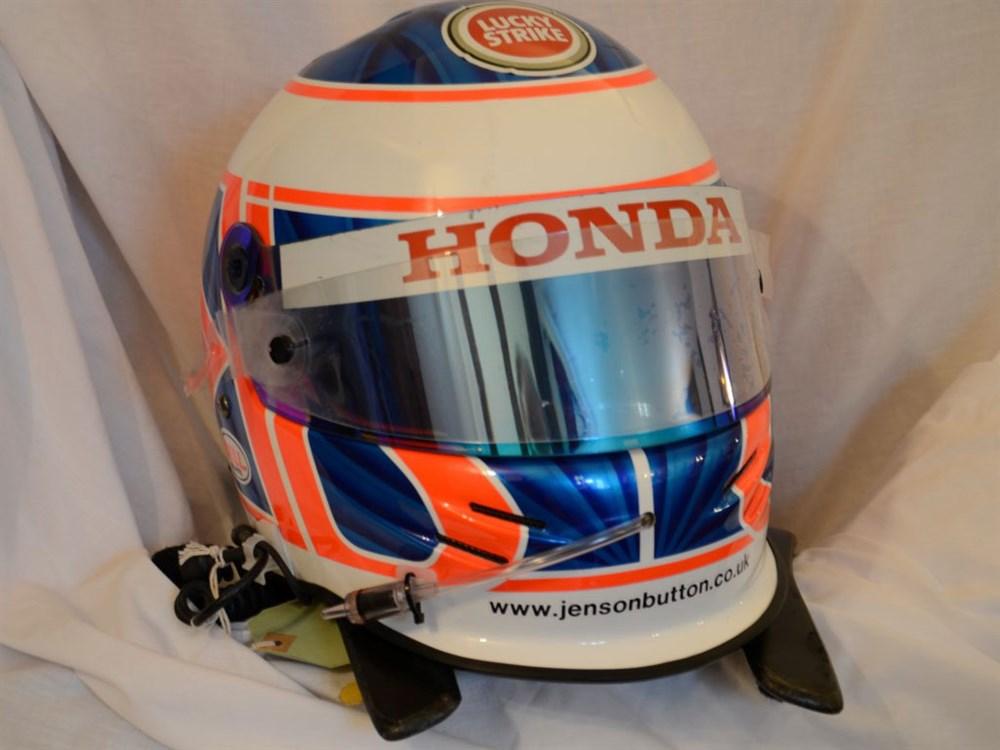 Lot 40-Jenson Button's Race Used Crash Helmet, 2003 Season