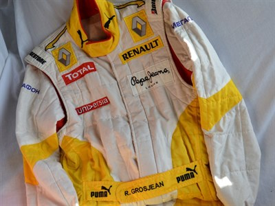 Lot 44-Romain Grosjean's Renault F1 Race Suit