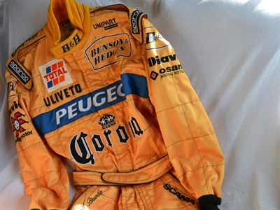 Lot 45-Martin Brundle's Jordan Race Suit