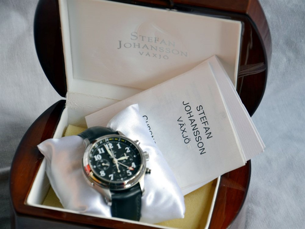 Lot 50-Stefan Johansson Vaxjo Limited Edition Chronograph *