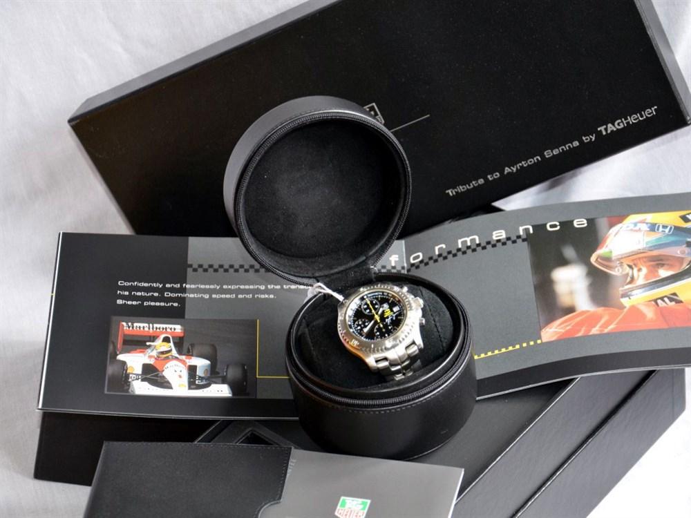 Lot 52-Tag Heuer Ayrton Senna Tribute Wristwatch, 2003 *