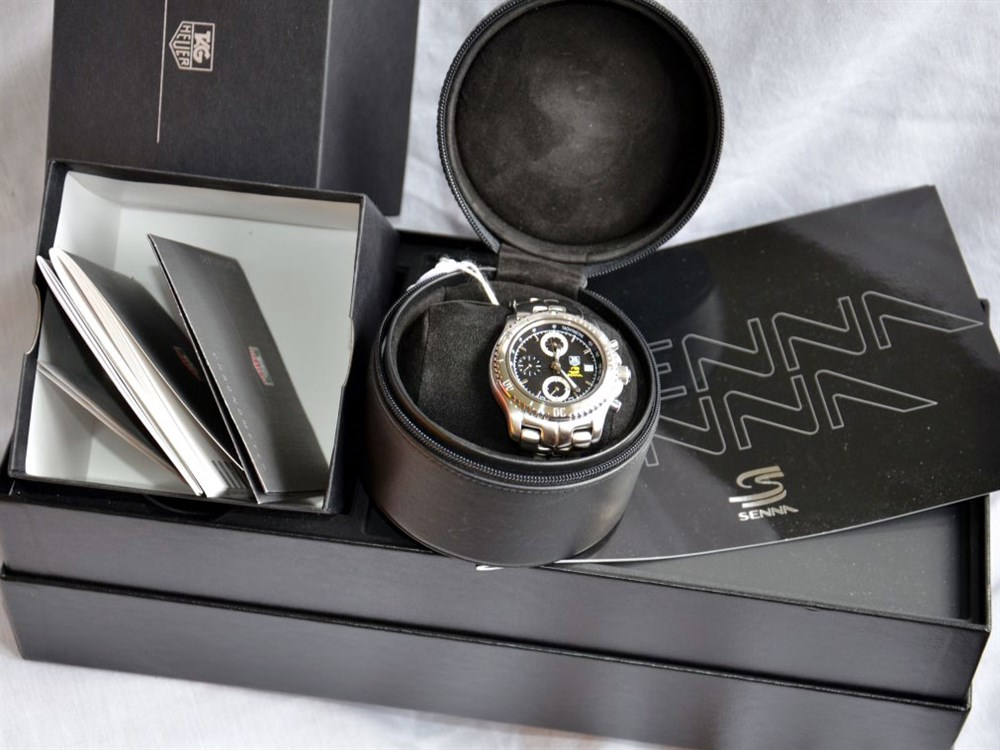 Lot 51-Tag Heuer Ayrton Senna Tribute Wristwatch, 2002 *