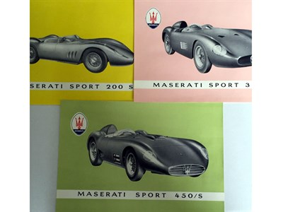 Lot 7-A Rare Maserati Sales Brochure Pack