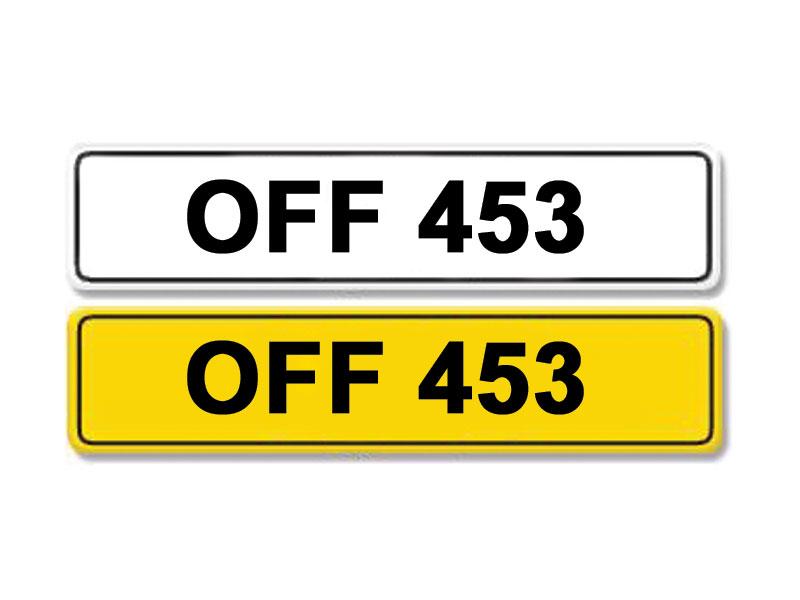 Lot 2-Registration Number OFF 453