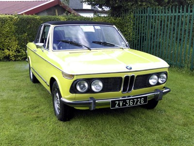 Lot 7-1973 BMW 2002 Cabriolet