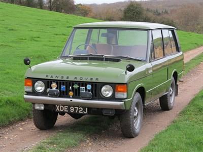 Lot 9-1971 Range Rover 'Two Door'